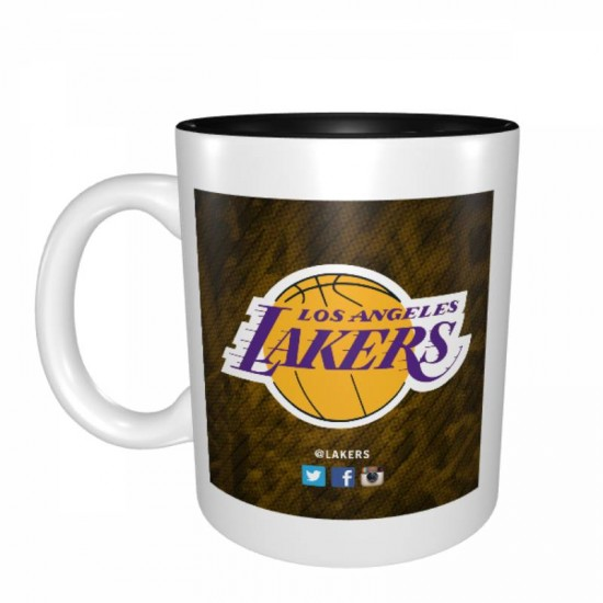 Ceramic Coffee Mug, Tea Cup for Office and Home, NBA Los Angeles Lakers Mugs #272547, Suitable for Dishwasher, 1 Pack